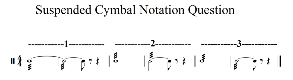 suspended cymbal notation